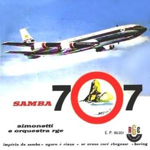 Henrique Simonetti e Orquestra RGE - Samba 707 - Compacto Duplo (1960)